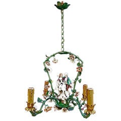 Antique small  French  1940 chandelier