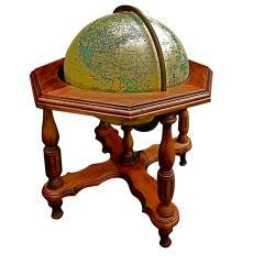 Antique   illuminating world globe