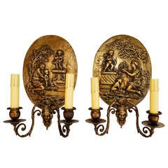19th Century French Bronze Sconces