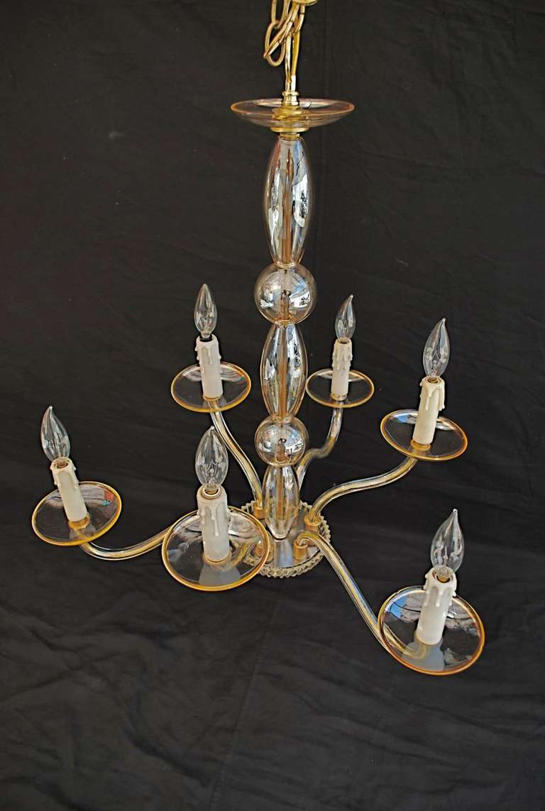 Hand Blown Murano Glass Chandelier For Sale at 1stdibs