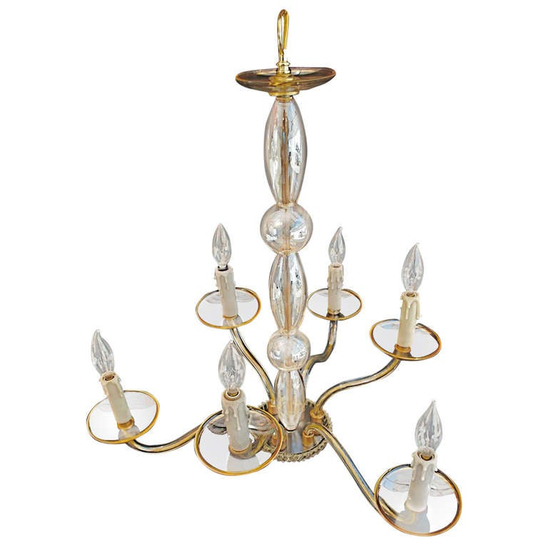 Hand blown murano glass chandelier at 1stdibs Blown glass chandelier
