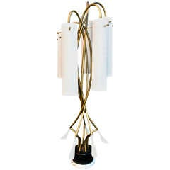 Exceptionally Large Midcentury Table Light