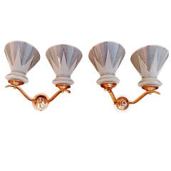 Antique French mid century sconces