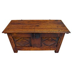 Antique  small French  trunk from alsace loraine