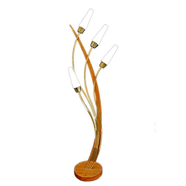 Antique mid century floor lamp