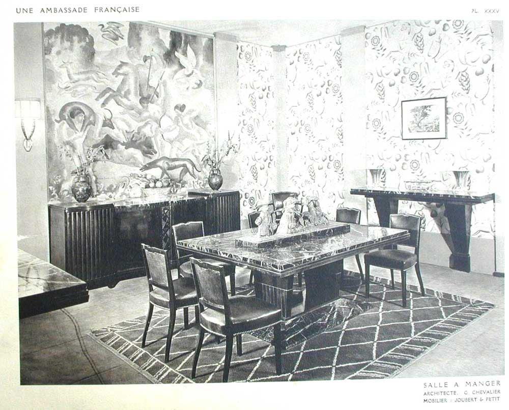 Petit Buffet Art Deco large 8 feet french buffetjoubert & petit for d.i.m