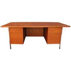 Walnut Desk by Floence Knoll