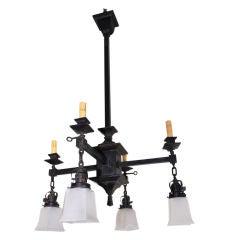 Antique Arts and Crafts ( craftsman ) chandelier