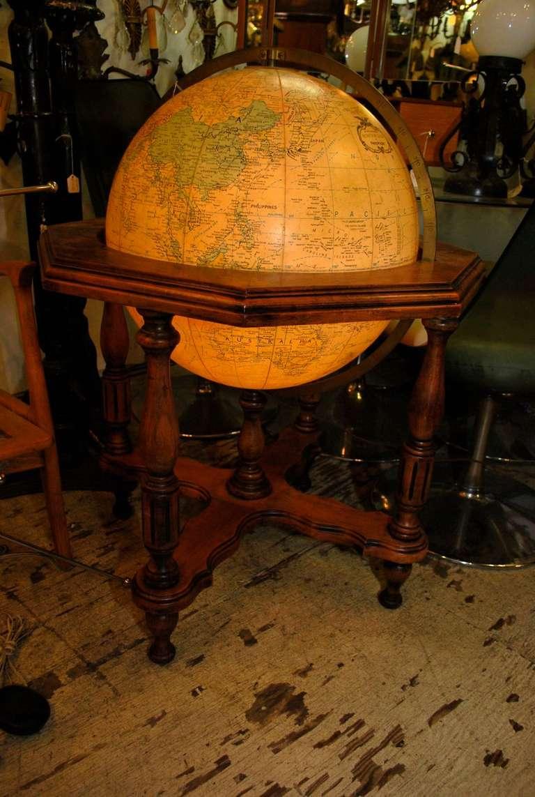 Antique Illuminating World Globe For Sale At 1stdibs