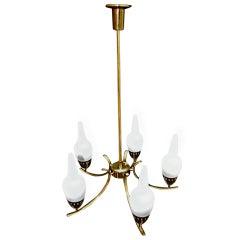 1950 Italian  chandelier by ARREDOLUCE
