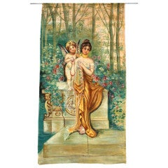 Large 19 th century painting on canvas/cloth