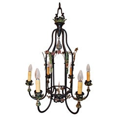 Antique wrought iron chandelier