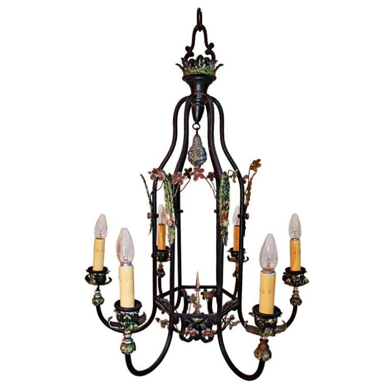 Antique Wrought Iron Chandelier For Sale At 1stdibs