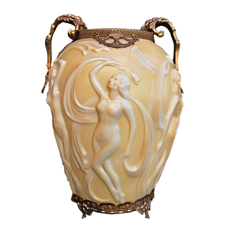 Antique French Art Deco Vase For Sale At 1stdibs