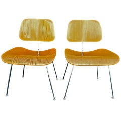 Pair Of DCM Chairs By Charles Eames For Herman Miller