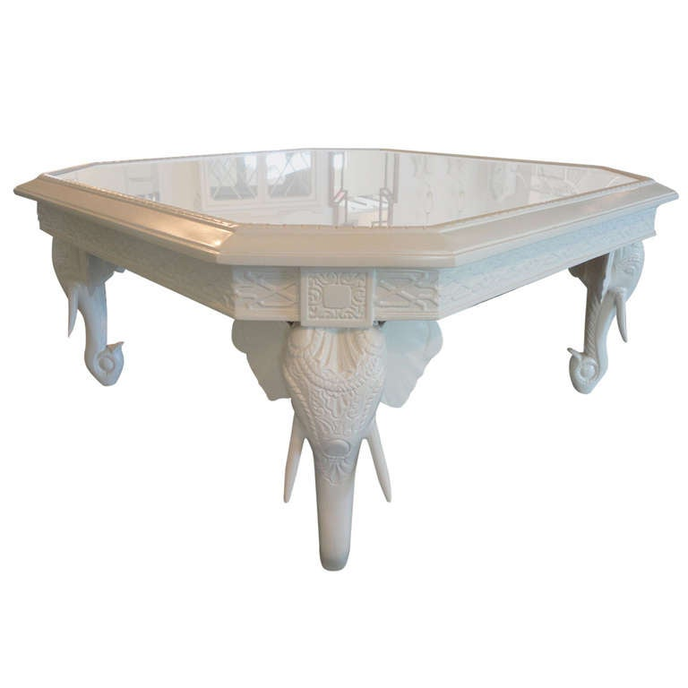 Fretwork elephant coffee table at 1stdibs Elephant coffee table
