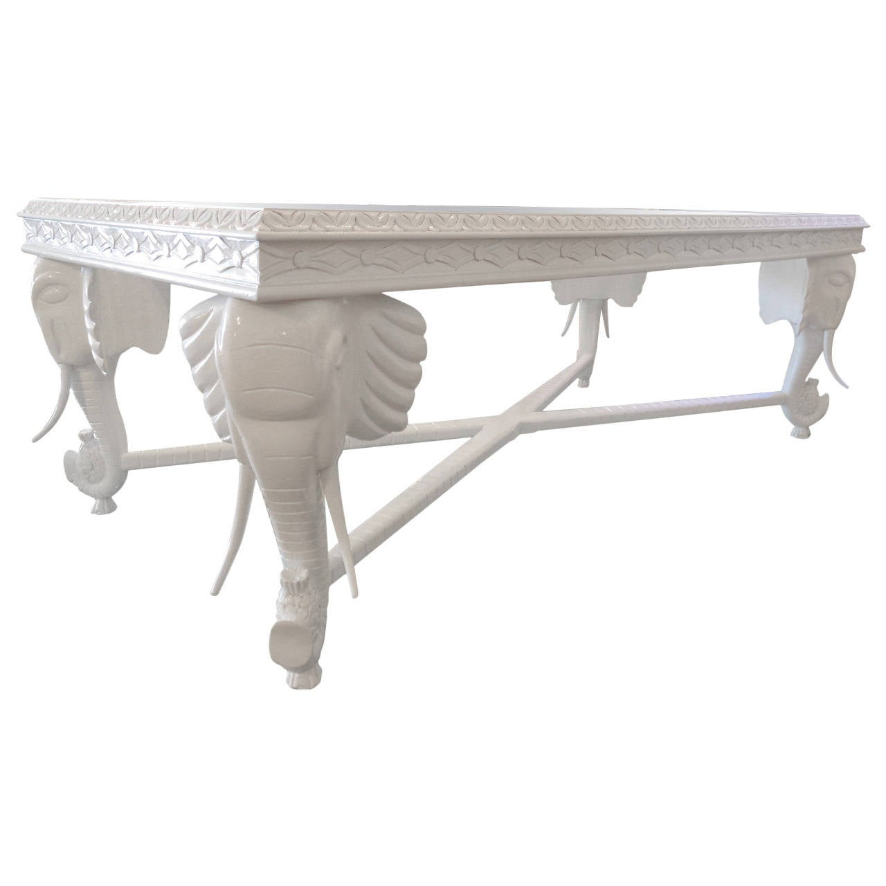 Carved elephant coffee table at 1stdibs Elephant coffee table