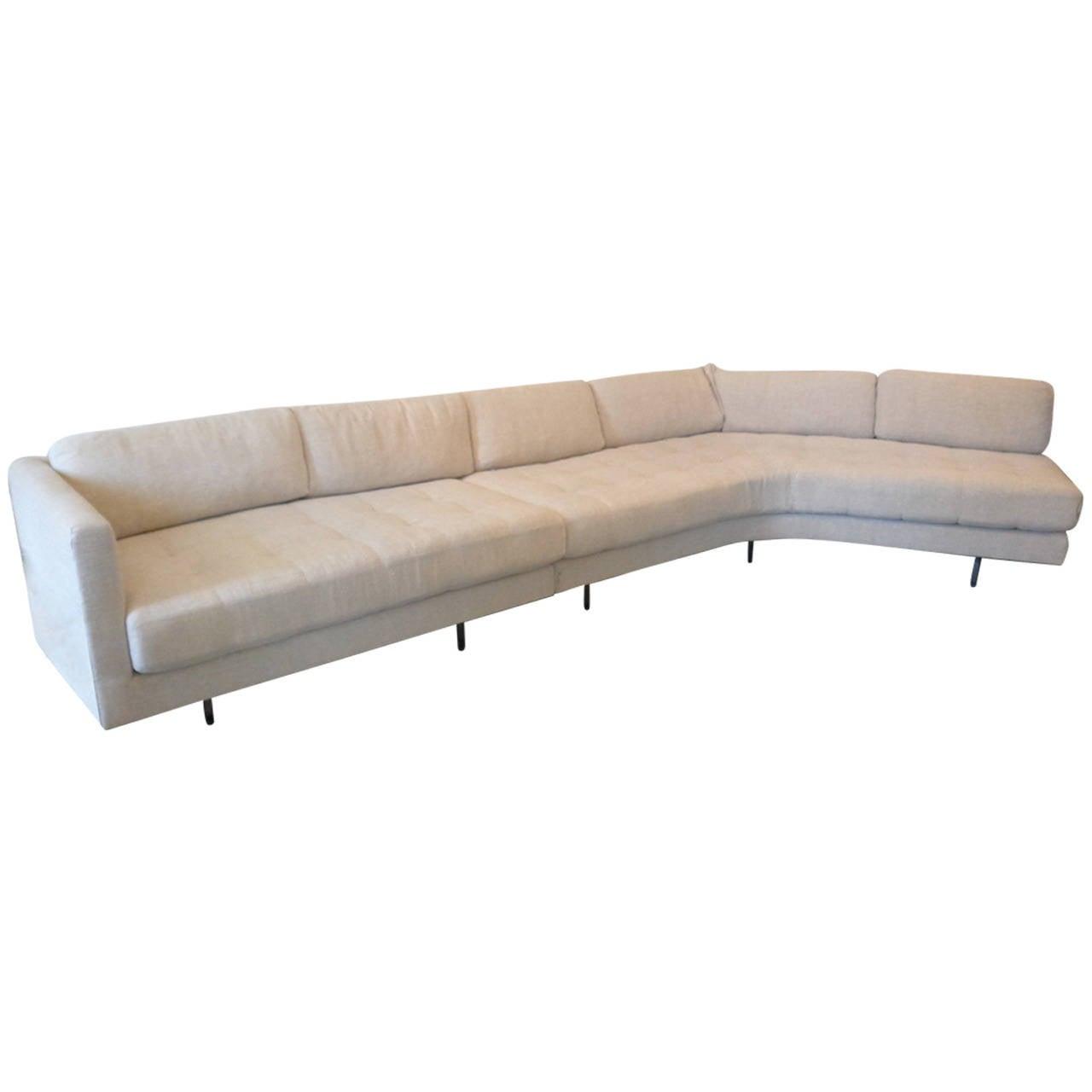 Vladimir Kagan Omnibus Sofa With Lucite Legs At 1stdibs