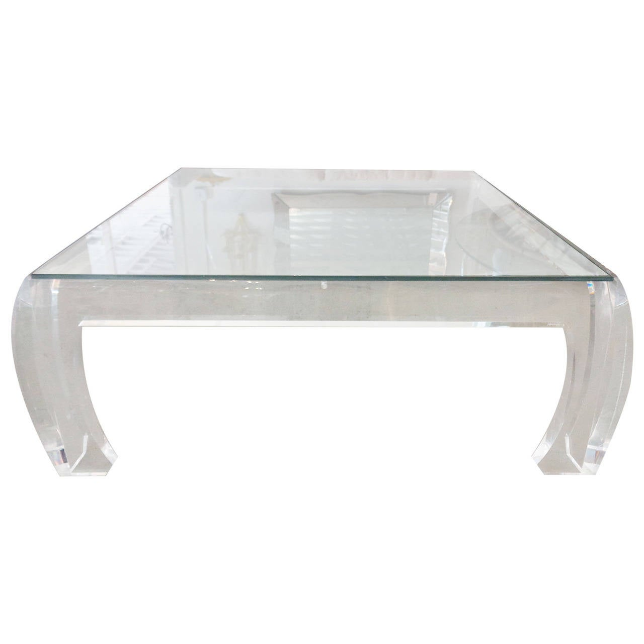 Jeffrey Bigelow Lucite Coffee Table At 1stdibs