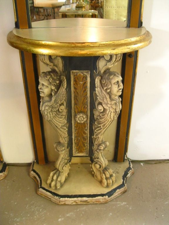 Plaster Pair of Phyllis Morris Consoles