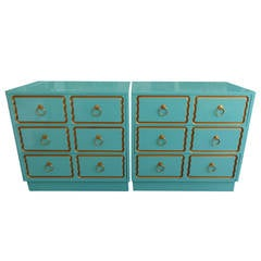 Pair of Dorothy Draper Style Chests