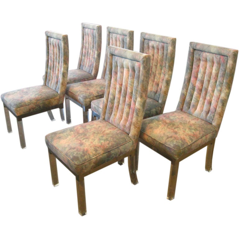 Set Of 6 Lucite Dining Chairs At 1stdibs