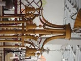 Faux Bamboo Pagoda Chandelier image 3