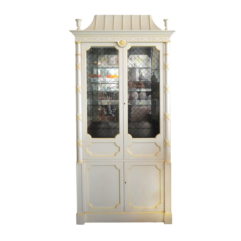 Regency style pagoda cabinet at 1stdibs for Sideboard lindholm