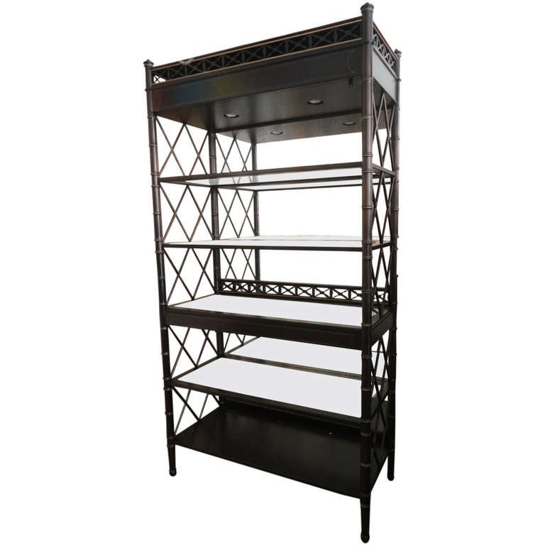Fretwork Bookcase by EJ Victor at 1stdibs