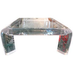 Karl Springer Lucite Coffee Table