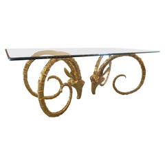 Brass Rams Head Dining Table