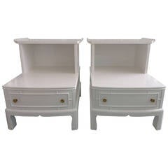 Pair of Pagoda Step Tables