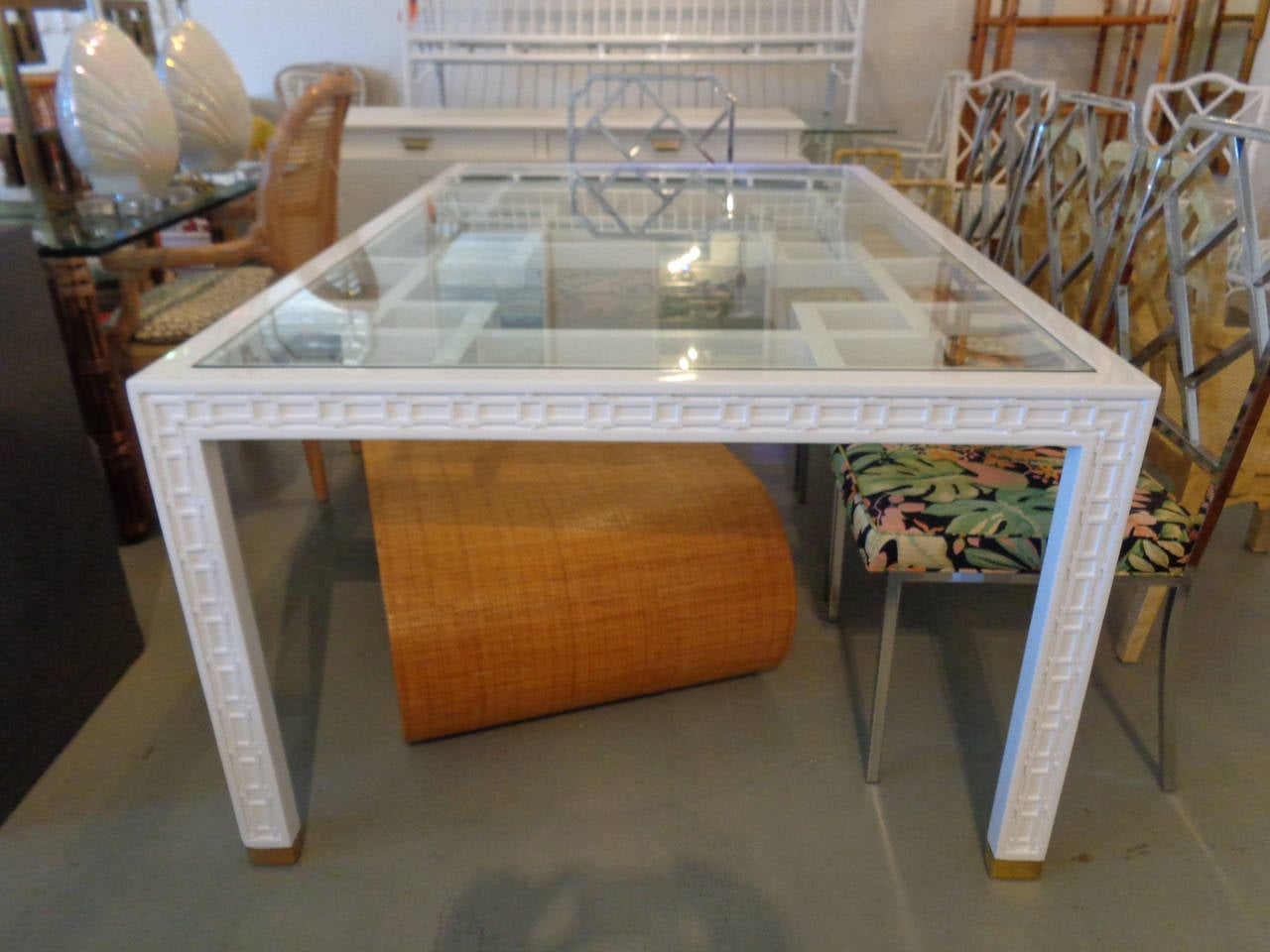 Hollywood Regency Style Fretwork Dining Table At 1stdibs