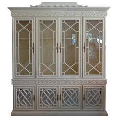 Fretwork Chippendale Pagoda Cabinet