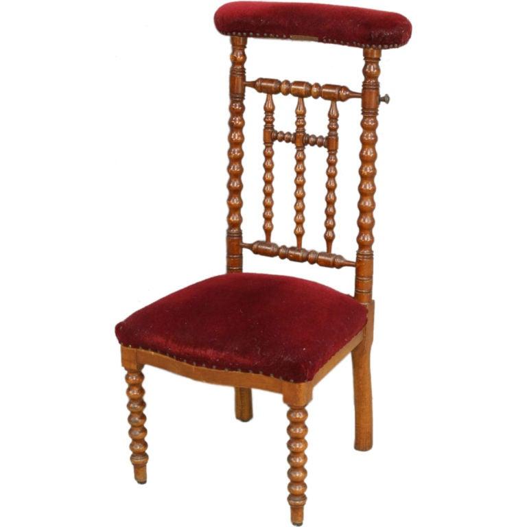 antique french prie dieu prayer chair kneeler cross at 1stdibs. Black Bedroom Furniture Sets. Home Design Ideas