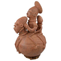 Decorative Vintage African Figural Water Jug