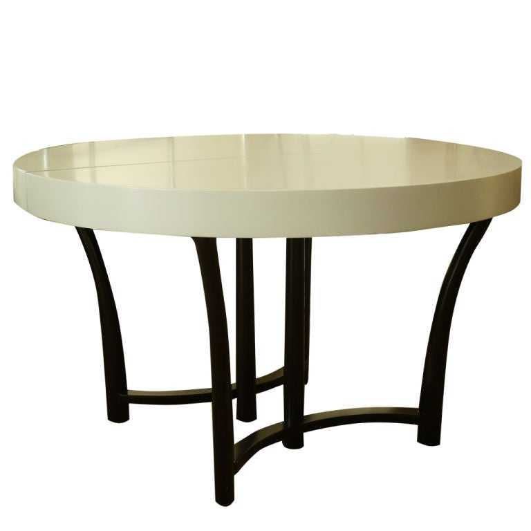 this simple round dining table by t h robsjohn gibbings is no longer