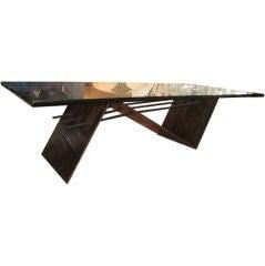 Brutal Oxidized Steel Coffee Table