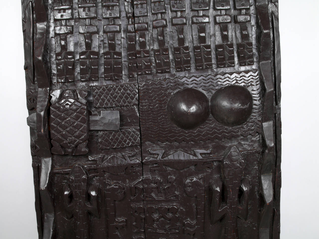 Hand-carved door from Mali Africa. Carved in the style of the Dogon & Door from the Dogon Tribe For Sale at 1stdibs