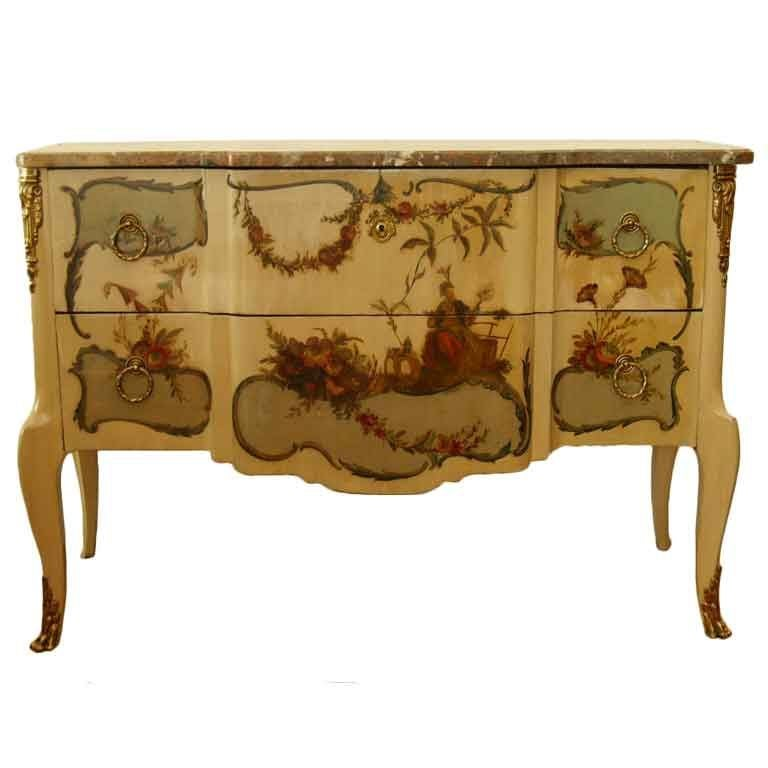 Early 20th Century French Commode with Marble Top