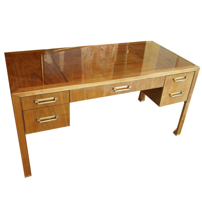 Simple Clean Natural Wood Desk By Baker At 1stdibs