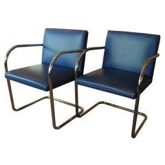 Set of Two Brno Chairs by Knoll Studio