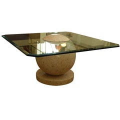 Tessellated Marble Sphere Coffee Table