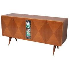 Elegant Art Deco Italian Sideboard in the Style of Gio Ponti