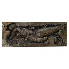 Rare Sculpted Female Torso in Fiberglass Wall Art