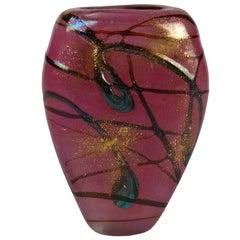 Pink French Art Glass Luzoro Vase