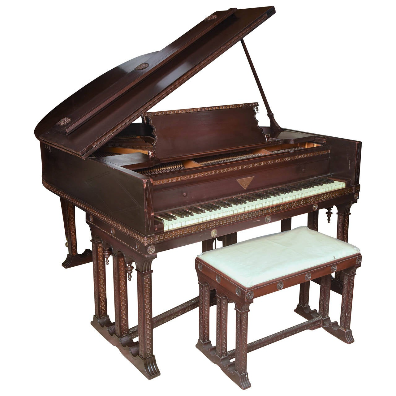 J & C Fischer Grand Piano For Sale