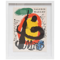 Vintage Exhibition Poster from Galerie Maeght for Joan Miro