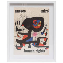 Exhibition Poster for Joan Miro at UNESCO