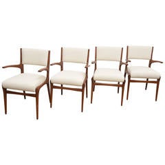 Set of Four Armchairs by Gio Ponti & Carlo di Carli